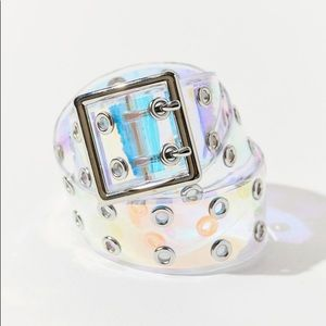 URBAN OUTFITTERS HOLOGRAPHIC GRAMMET BELT